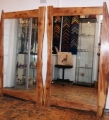 Bookmatched Elm Mirrors, commission