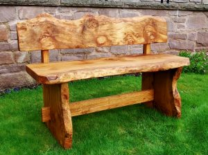Oak garden bench, commission