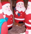 1.8m carved polystyrene Santas, hand-painted; shop displays