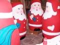 1.8m carved polystyrene Santas, hand-painted; shop displays