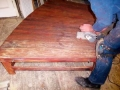 8 Songs stage rostra, distressed finish