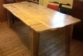 Mixed wood dining table