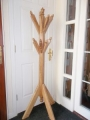 Spalted beech hatstand with handcarved acorn detailing