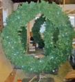 Giant christmas wreaths; shop displays