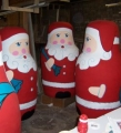 Hand painted Santa Russian Dolls Commission for Christmas shop displays
