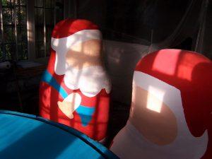 Santa shop displays, work in progress