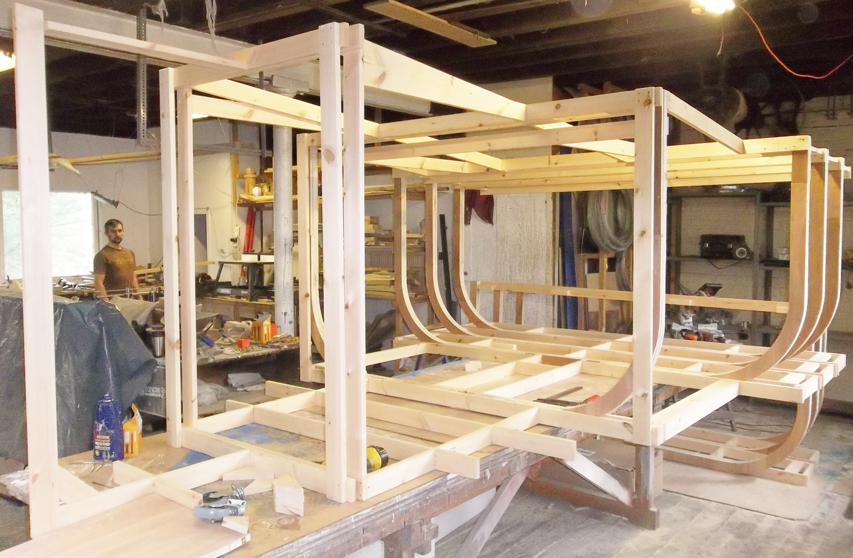 Stage Boat, timber frame construction